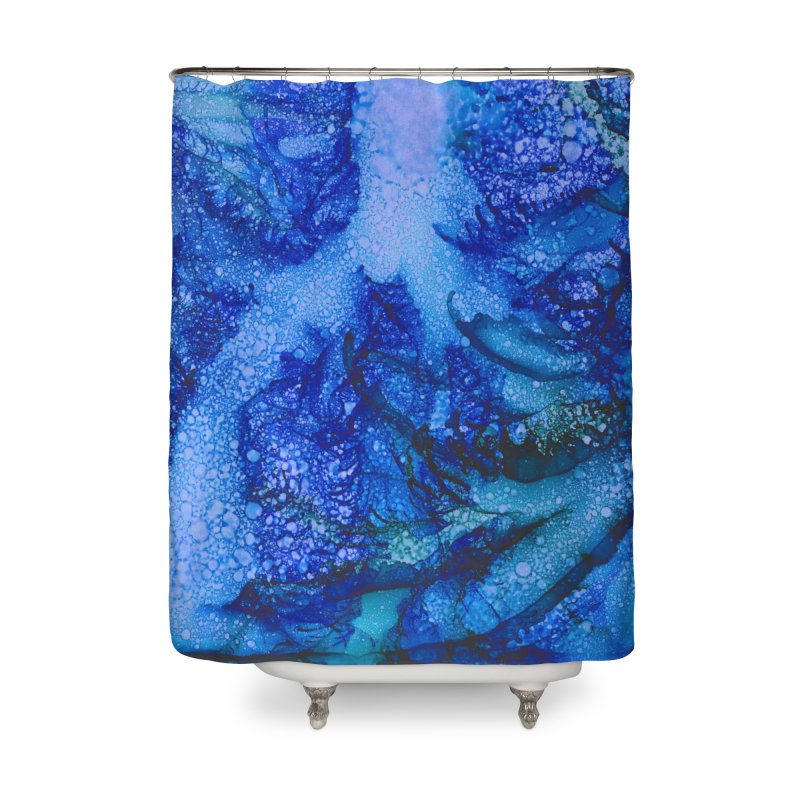 Indigo Ocean Home Shower Curtain by