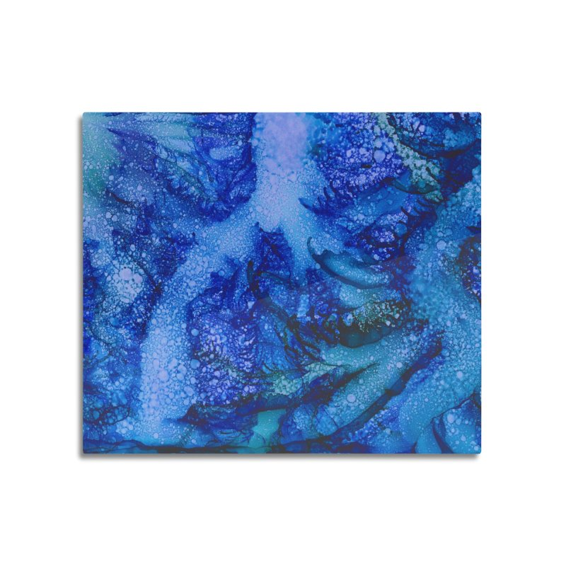 Indigo Ocean Home Mounted Aluminum Print by