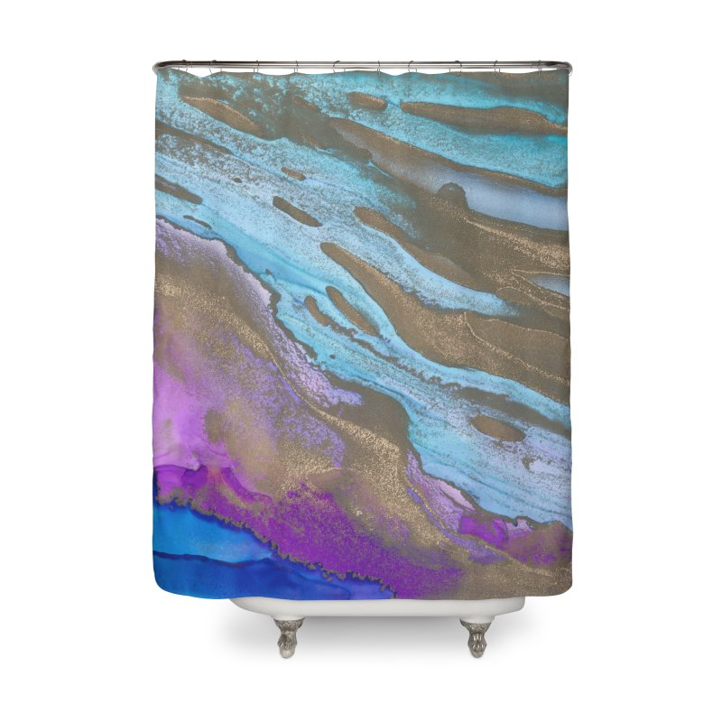 Golden Sands Home Shower Curtain by