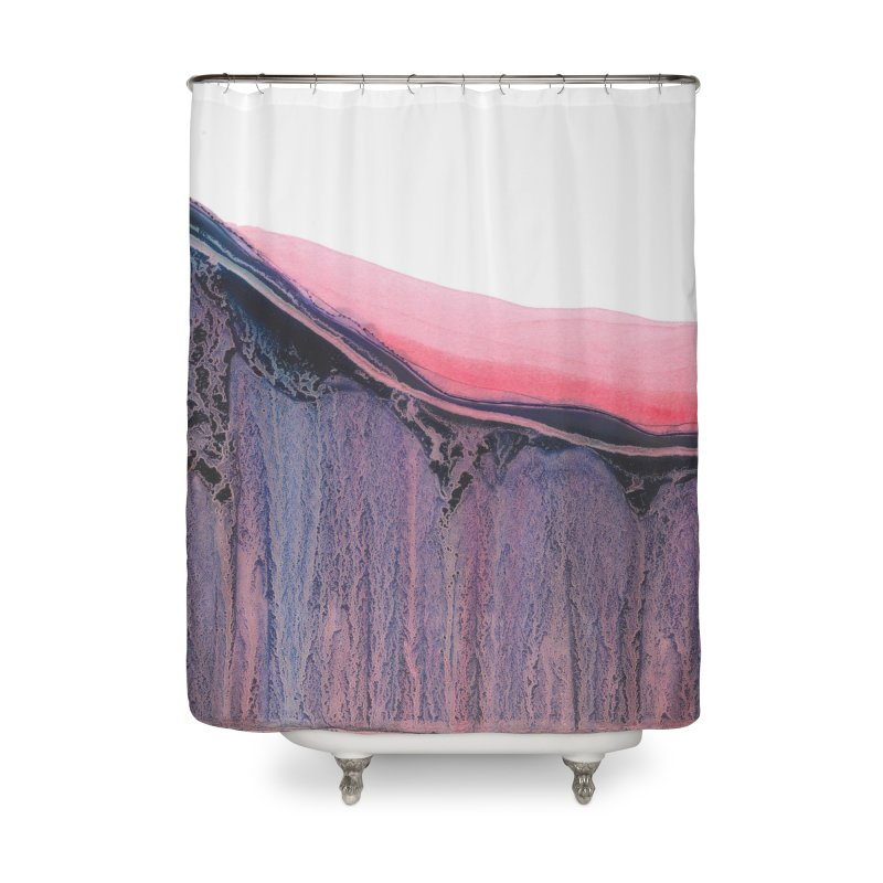 Etched Away Home Shower Curtain by