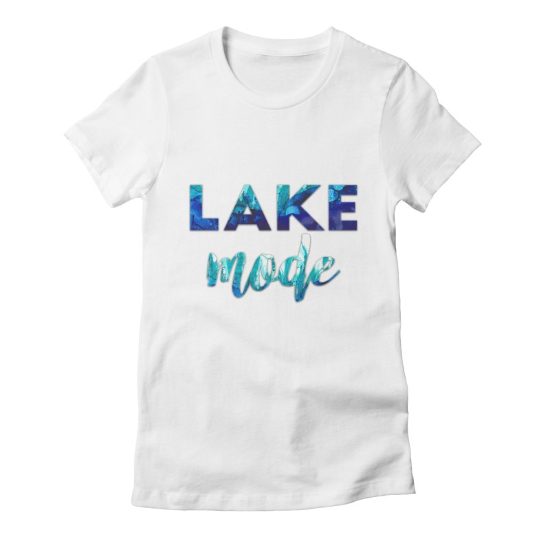 Lake Mode Women's Fitted T-Shirt by
