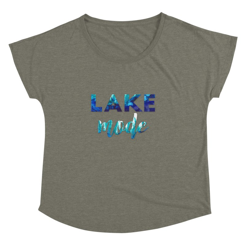 Lake Mode Women's Dolman Scoop Neck by Pamela Habing's Art
