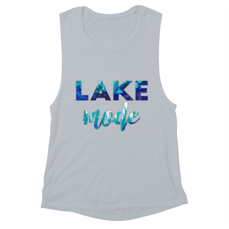 Lake Mode Women's Muscle Tank by Pamela Habing's Art
