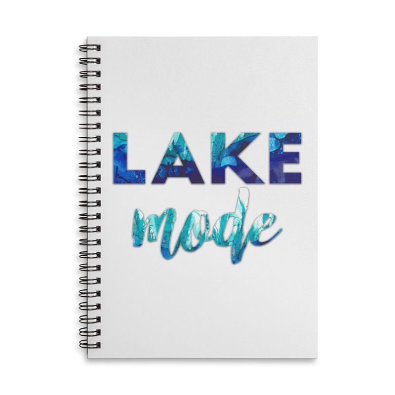 Lake Mode Accessories Lined Spiral Notebook by