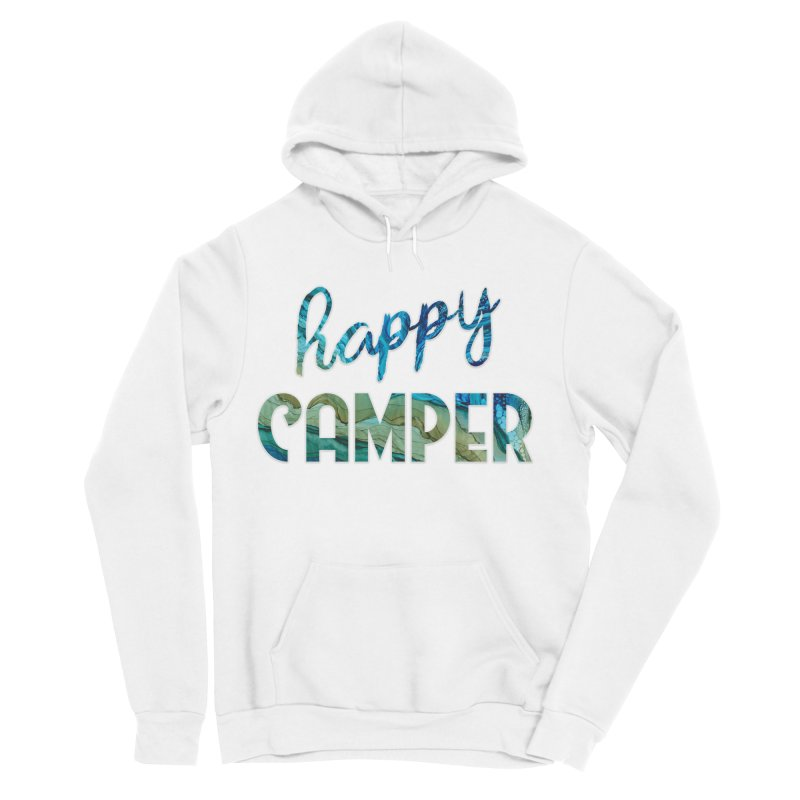 Happy Camper Women's Sponge Fleece Pullover Hoody by