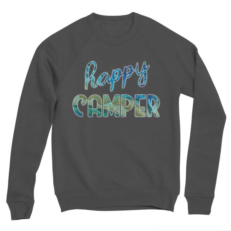 Happy Camper Women's Sponge Fleece Sweatshirt by Pamela Habing's Art