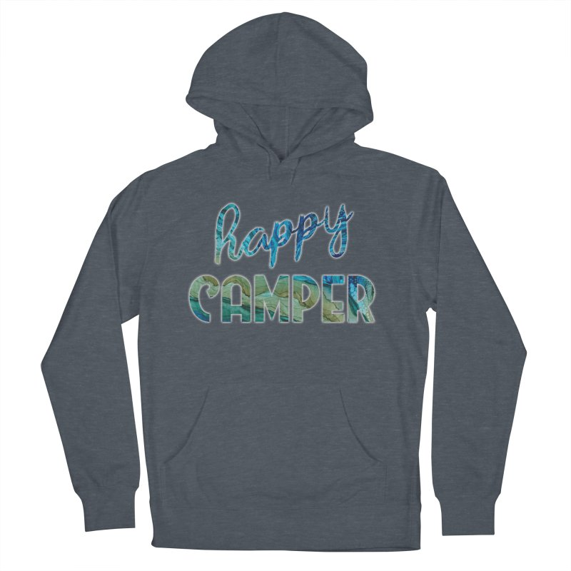 Happy Camper Women's French Terry Pullover Hoody by Pamela Habing's Art