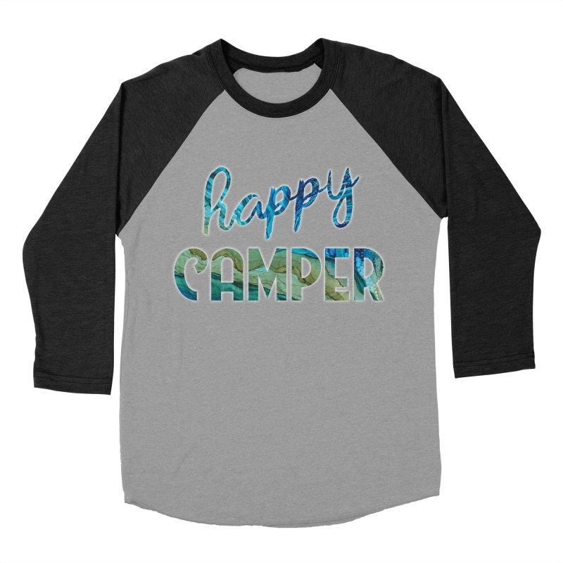 Happy Camper Women's Baseball Triblend Longsleeve T-Shirt by