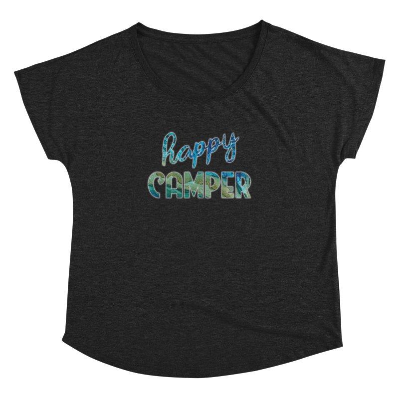 Happy Camper Women's Dolman Scoop Neck by