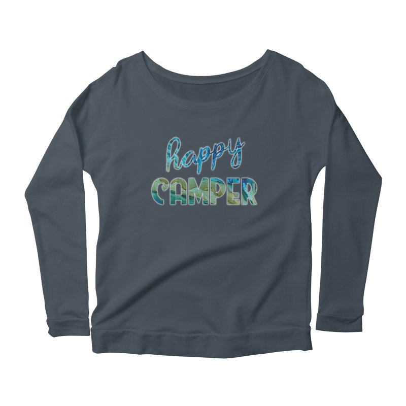 Happy Camper Women's Scoop Neck Longsleeve T-Shirt by