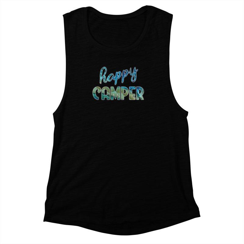 Happy Camper Women's Muscle Tank by