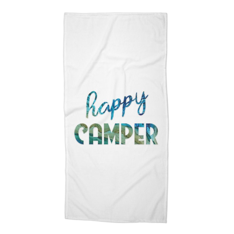 Happy Camper Accessories Beach Towel by
