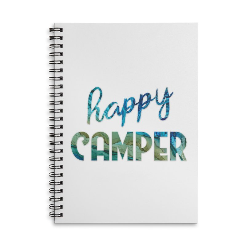 Happy Camper Accessories Lined Spiral Notebook by