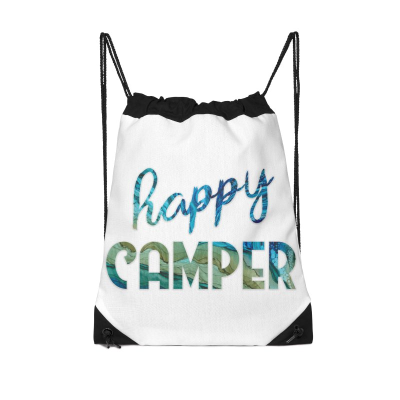 Happy Camper Accessories Drawstring Bag Bag by