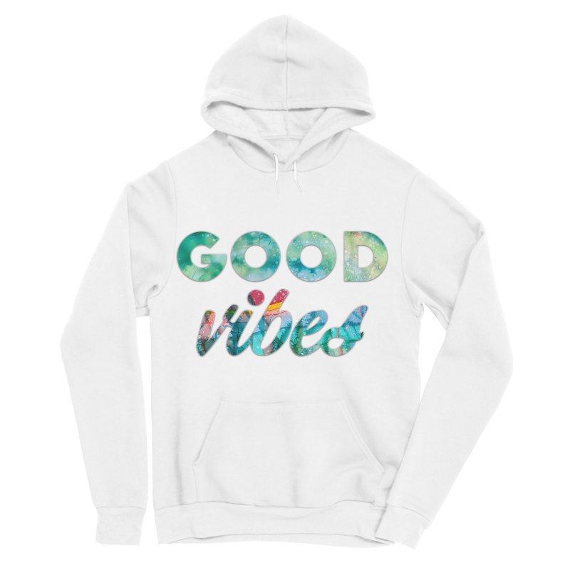 Good Vibes in Women's Sponge Fleece Pullover Hoody White by