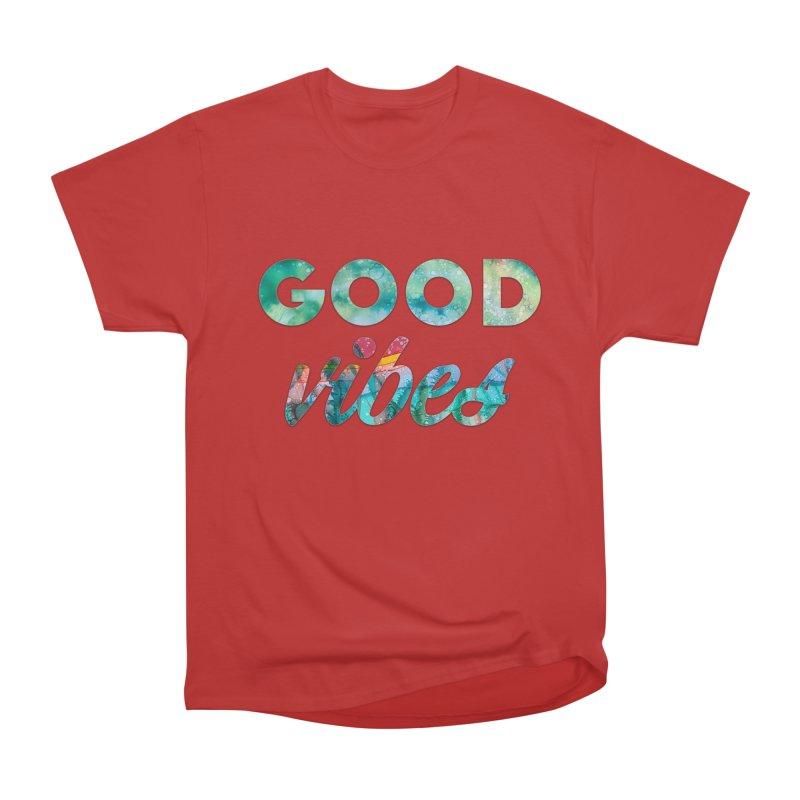 Good Vibes Women's Heavyweight Unisex T-Shirt by Pamela Habing's Art