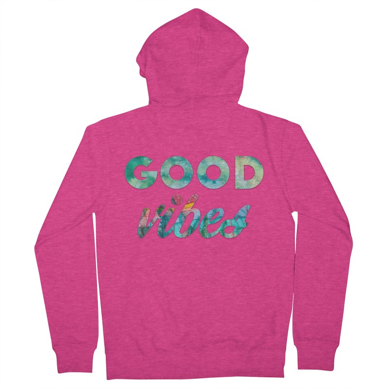 Good Vibes Women's French Terry Zip-Up Hoody by