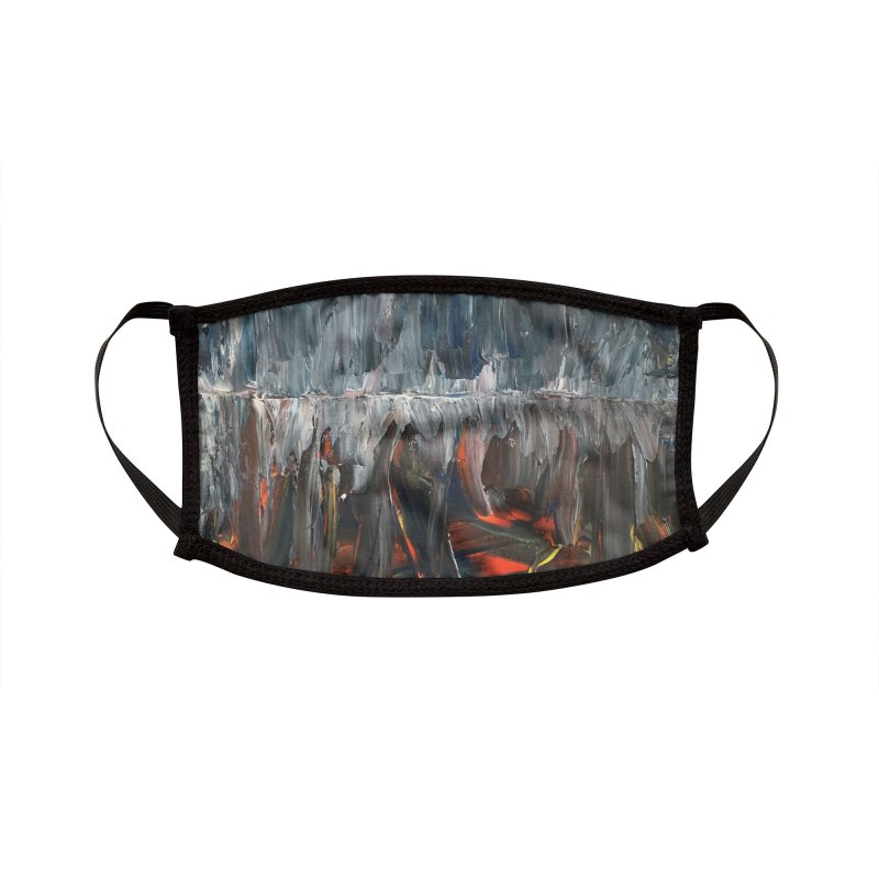 The Great Ice Wall Accessories Face Mask by Papamartini's Artist Shop