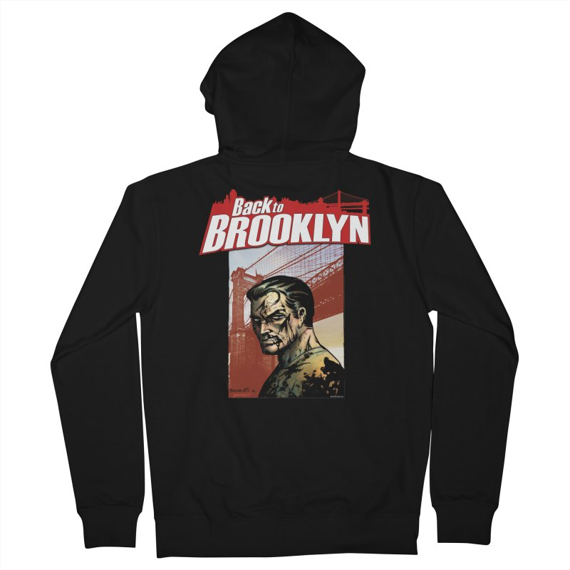 Back to Brooklyn - Jimmy Palmiotti Women's French Terry Zip-Up Hoody by PaperFilms's Artist Shop