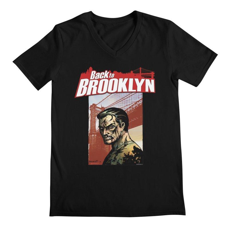 Back to Brooklyn - Jimmy Palmiotti Men's Regular V-Neck by Paper Films