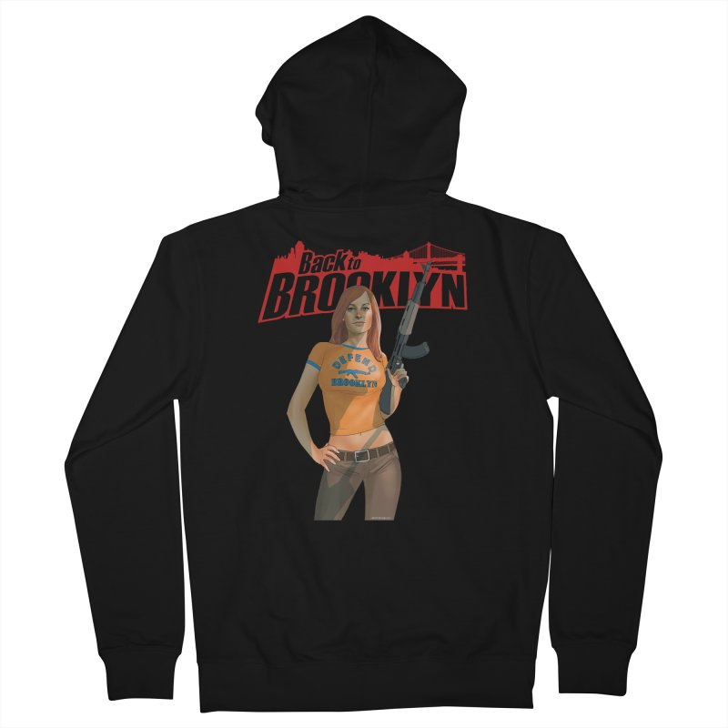 Back to Brooklyn - Phil Noto Women's French Terry Zip-Up Hoody by PaperFilms's Artist Shop