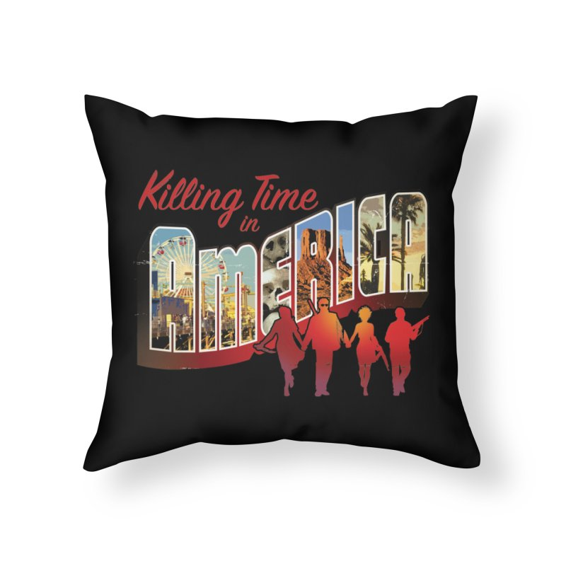 Killing Time in America - Dave Johnson Home Throw Pillow by PaperFilms's Artist Shop