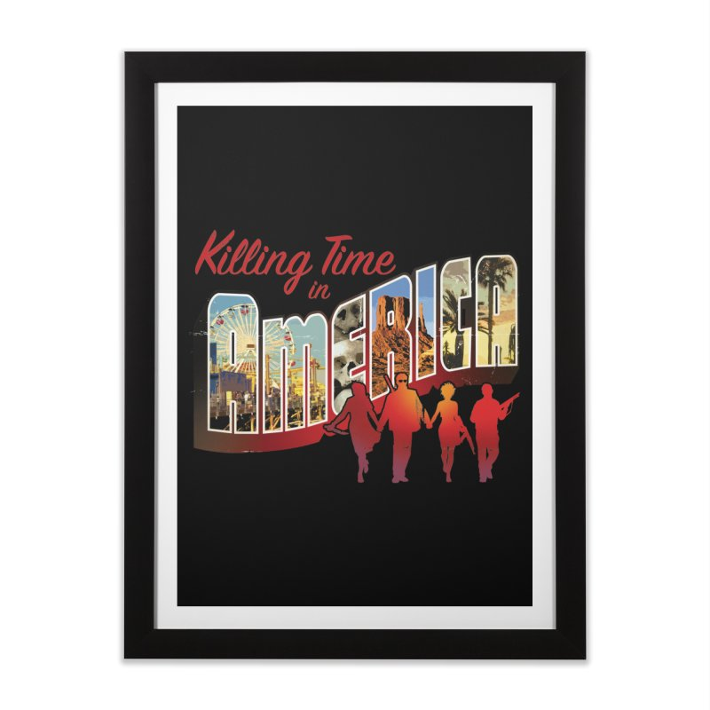 Killing Time in America - Dave Johnson Home Framed Fine Art Print by Paper Films