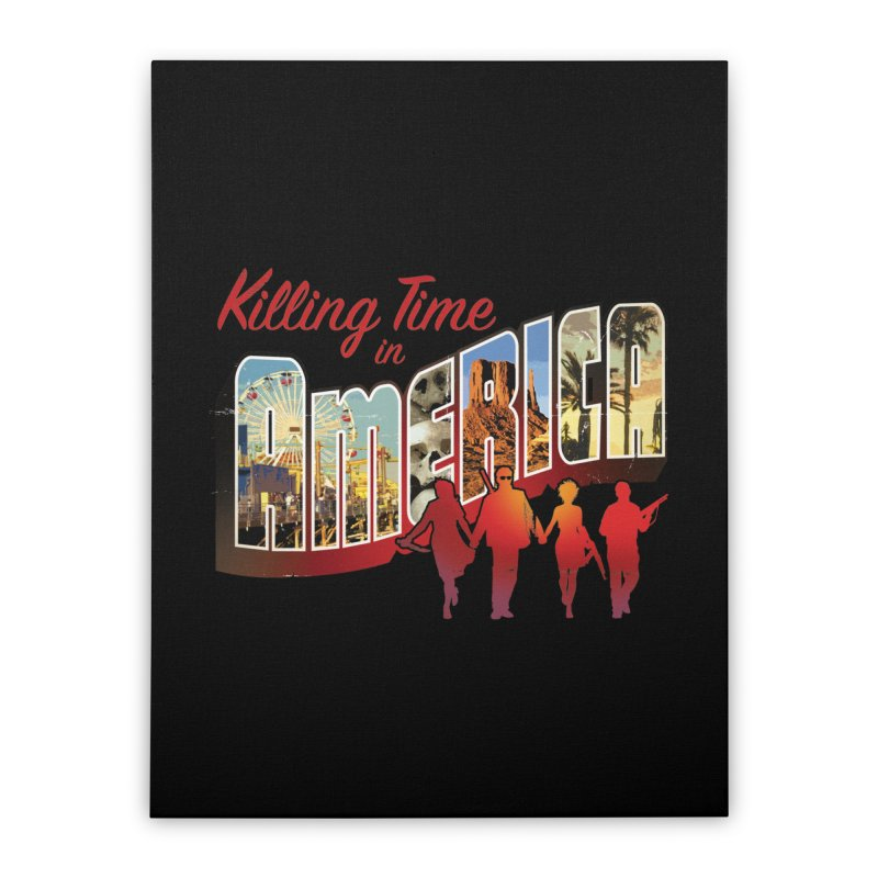 Killing Time in America - Dave Johnson Home Stretched Canvas by Paper Films