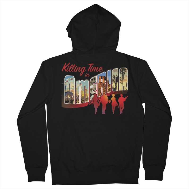 Killing Time in America - Dave Johnson Men's Zip-Up Hoody by PaperFilms's Artist Shop