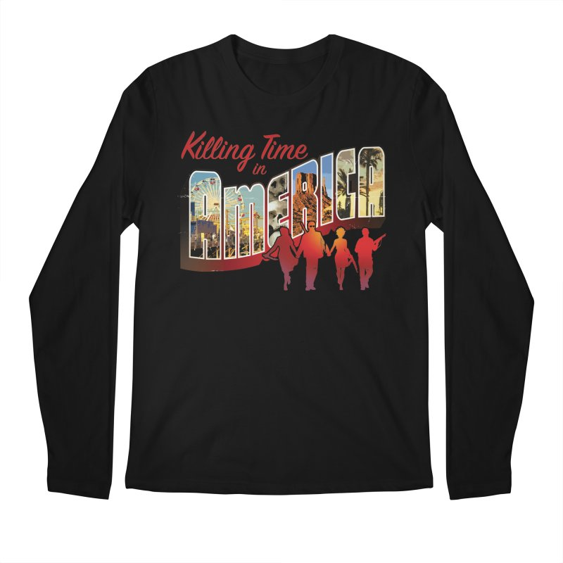 Killing Time in America - Dave Johnson Men's Regular Longsleeve T-Shirt by PaperFilms's Artist Shop