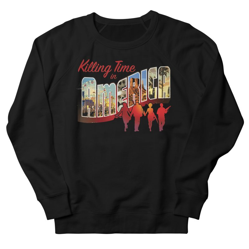 Killing Time in America - Dave Johnson Men's French Terry Sweatshirt by Paper Films