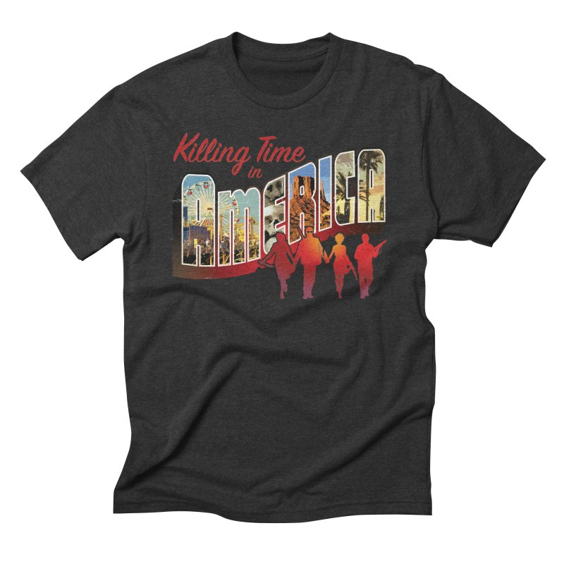 Killing Time in America - Dave Johnson Men's Triblend T-Shirt by PaperFilms's Artist Shop