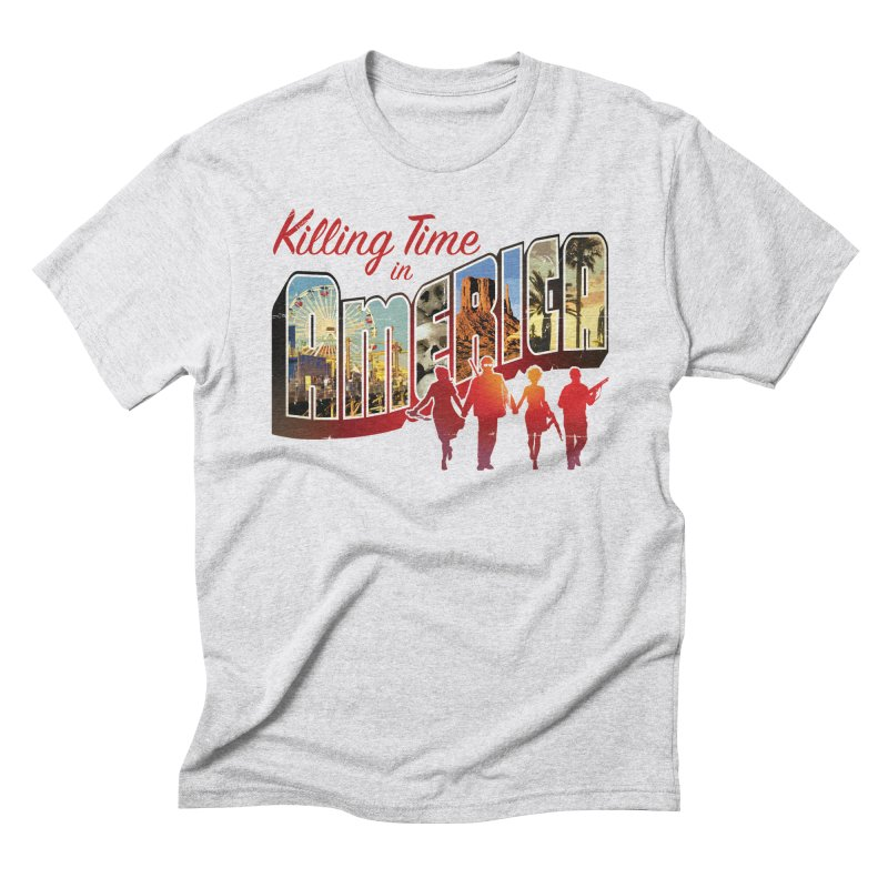 Killing Time in America - Dave Johnson Men's Triblend T-Shirt by Paper Films