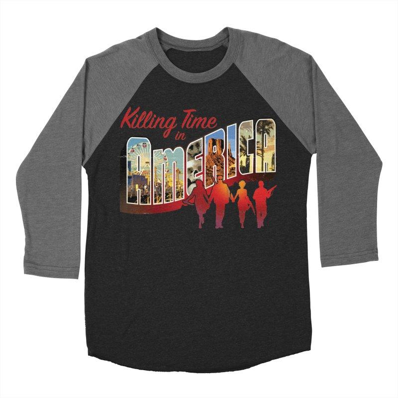 Killing Time in America - Dave Johnson Women's Baseball Triblend Longsleeve T-Shirt by Paper Films