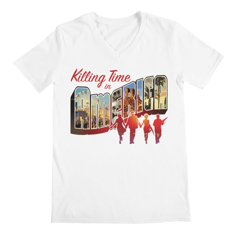Killing Time in America - Dave Johnson Men's Regular V-Neck by PaperFilms's Artist Shop
