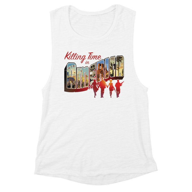 Killing Time in America - Dave Johnson Women's Muscle Tank by Paper Films