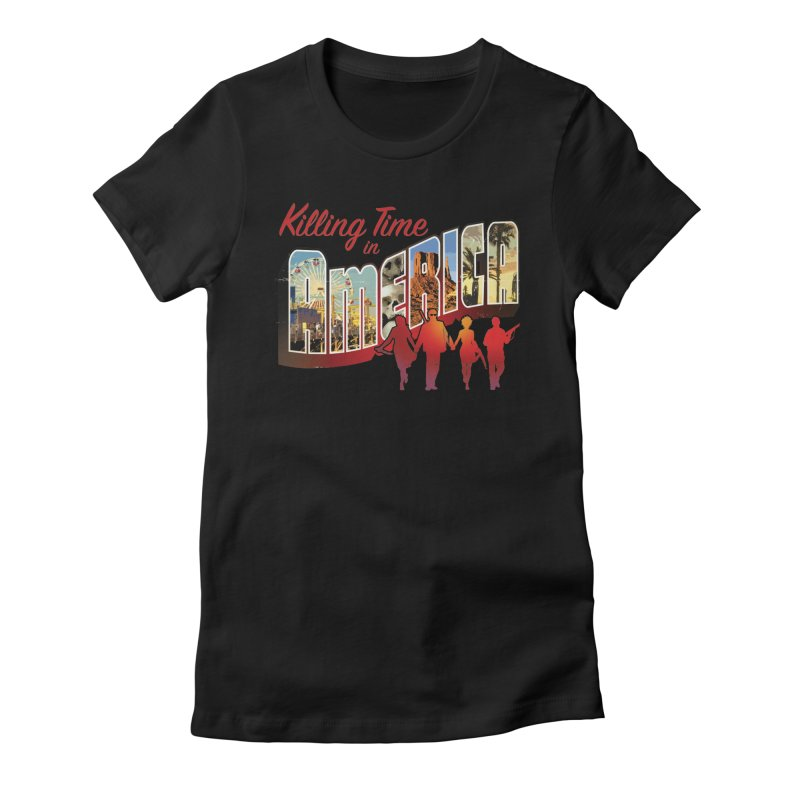 Killing Time in America - Dave Johnson Women's T-Shirt by PaperFilms's Artist Shop