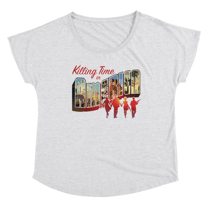 Killing Time in America - Dave Johnson Women's Dolman Scoop Neck by Paper Films