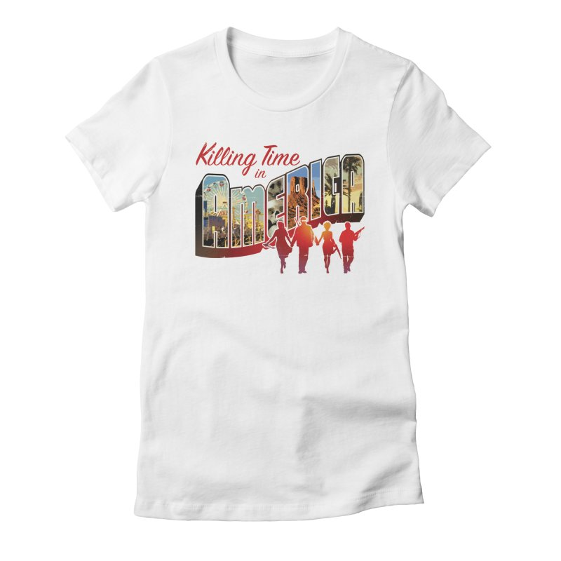 Killing Time in America - Dave Johnson Women's Fitted T-Shirt by Paper Films