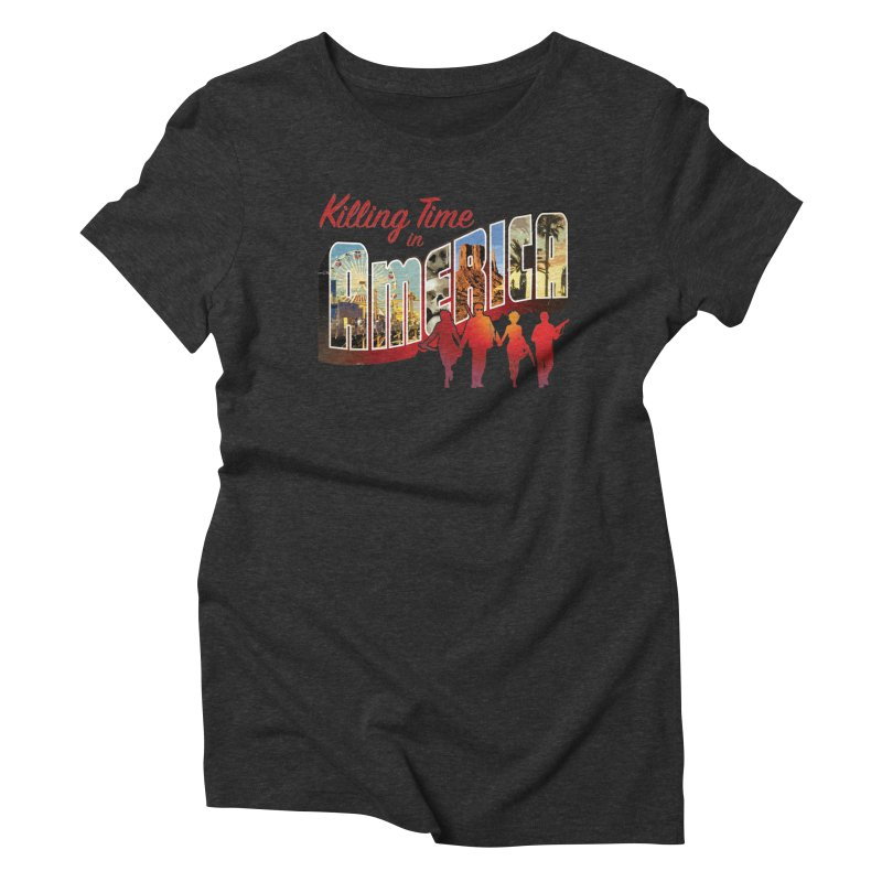 Killing Time in America - Dave Johnson Women's Triblend T-Shirt by Paper Films