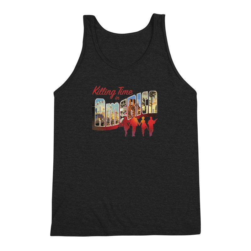 Killing Time in America - Dave Johnson Men's Triblend Tank by Paper Films