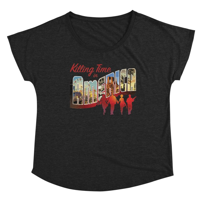 Killing Time in America - Dave Johnson Women's Scoop Neck by Paper Films