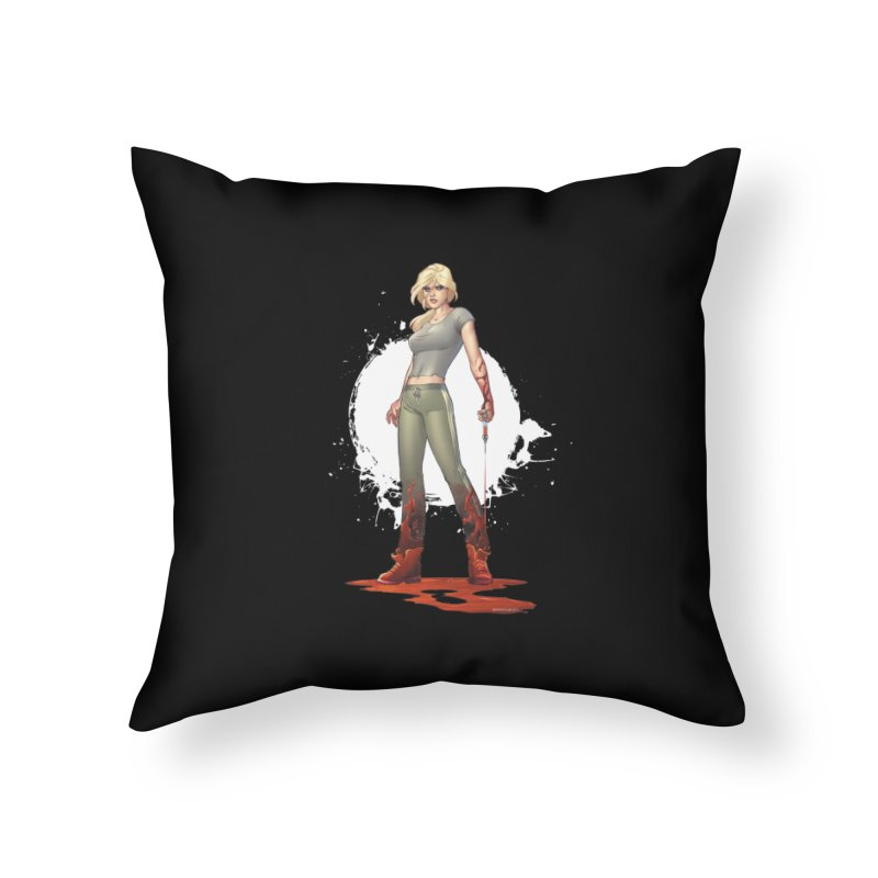 Retrovirus - Amanda Conner Home Throw Pillow by PaperFilms's Artist Shop