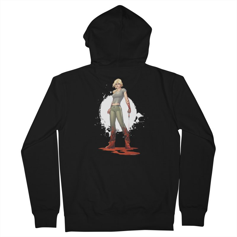 Retrovirus - Amanda Conner Women's French Terry Zip-Up Hoody by PaperFilms's Artist Shop