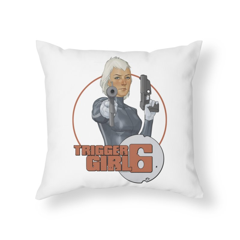 Triggergirl 6 - Phil Noto Home Throw Pillow by PaperFilms's Artist Shop