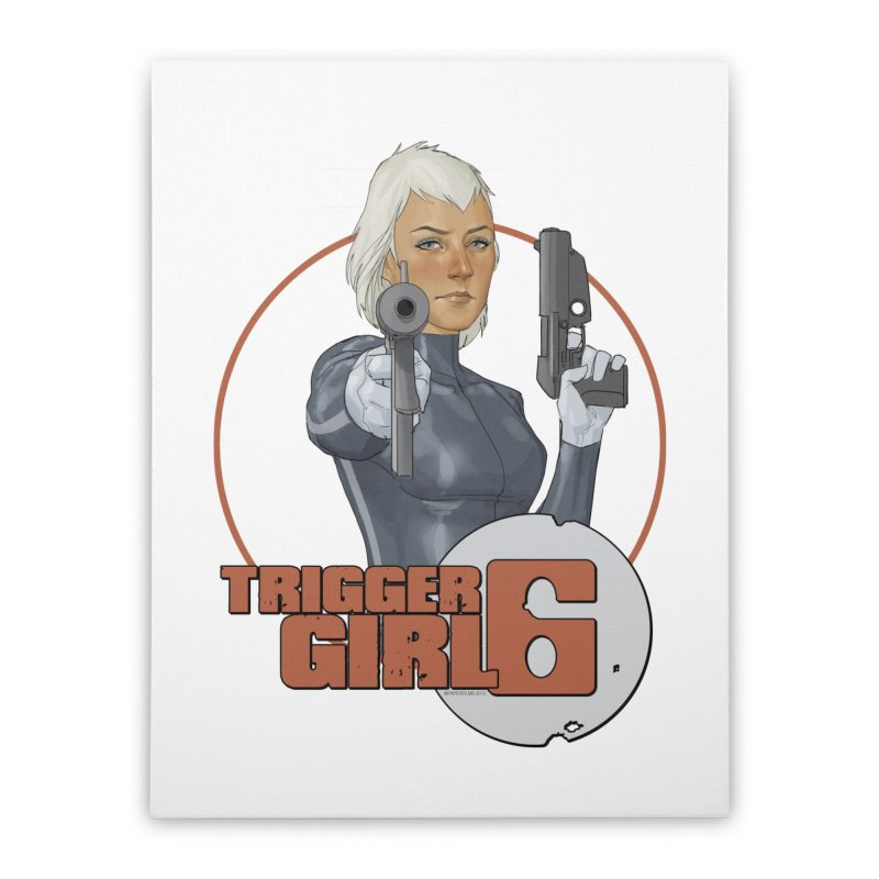Triggergirl 6 - Phil Noto Home Stretched Canvas by PaperFilms's Artist Shop