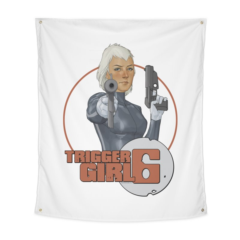 Triggergirl 6 - Phil Noto Home Tapestry by Paper Films