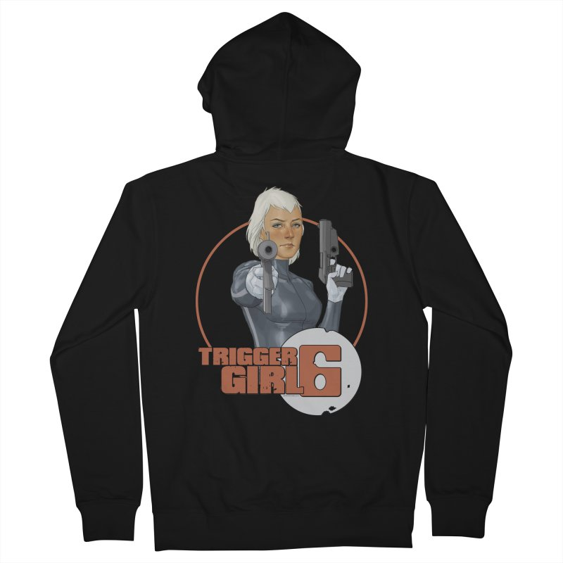 Triggergirl 6 - Phil Noto Women's French Terry Zip-Up Hoody by Paper Films