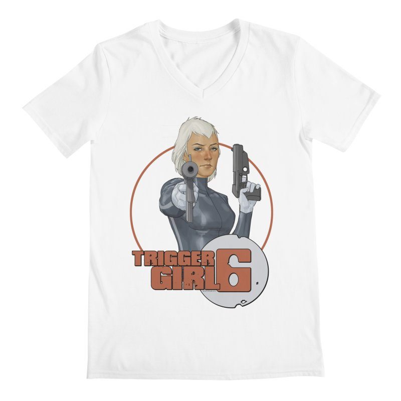 Triggergirl 6 - Phil Noto Men's Regular V-Neck by PaperFilms's Artist Shop