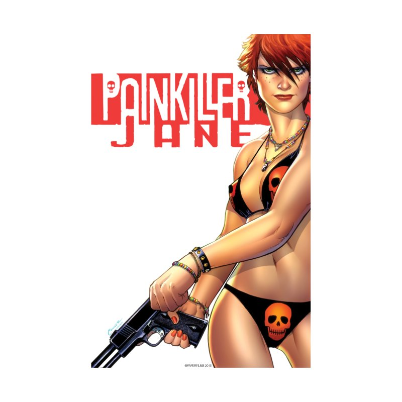 Painkiller Jane - Amanda Conner Home Throw Pillow by Paper Films
